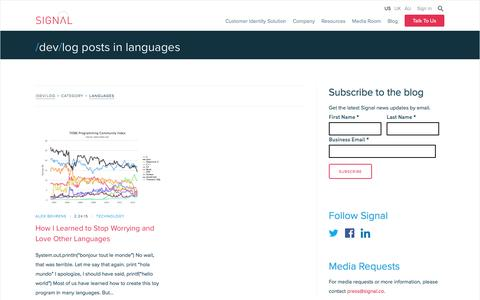 Languages Archives - Signal