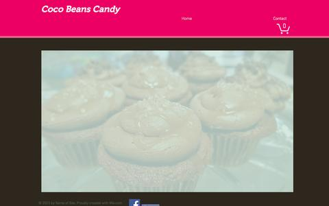 Screenshot of Home Page cocobeanscandy.com - Coco Beans Candy /Handmade Chocolates Ice Cream Fudge Cookies - captured May 19, 2017