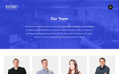 Screenshot of Team Page bluecadet.com - People | Bluecadet - captured June 2, 2017