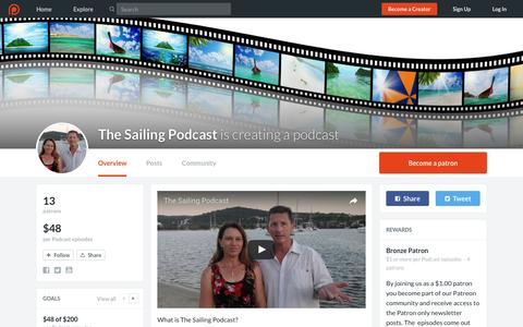 Screenshot of Signup Page patreon.com - The Sailing Podcast is creating a podcast | Patreon - captured Jan. 24, 2017