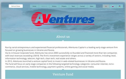 Screenshot of About Page aventurescapital.com - About us – AVentures Capital - captured Oct. 28, 2014