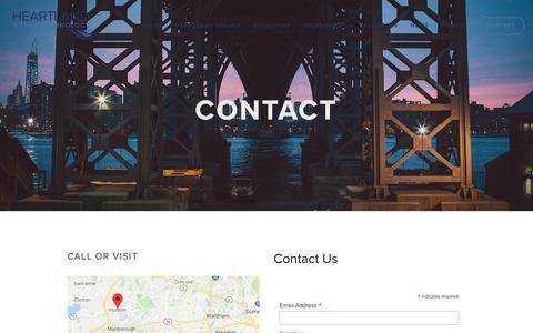 Screenshot of Contact Page heartlandtech.com - Contact — Heartland Water Technology - captured Sept. 28, 2018