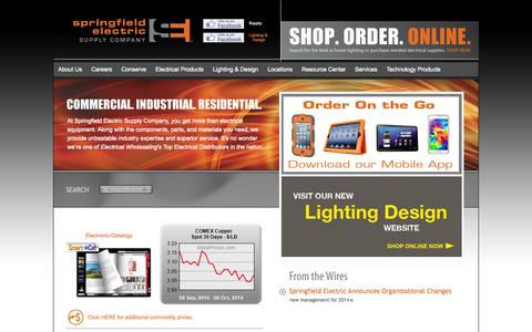 Screenshot of Home Page springfieldelectric.com - Springfield Electric - captured Oct. 6, 2014