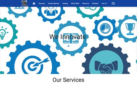 Screenshot of Services Page industechnologies.co - Our Services payment gateways E-Commerce Corporate Identity CMS CSS3 HTML 5 - captured Aug. 5, 2016
