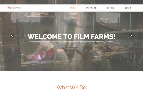 Screenshot of Home Page film-farms.com - Film Farms - captured Aug. 3, 2015