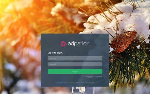 Screenshot of Login Page adparlor.com - AdParlor - captured Feb. 5, 2016
