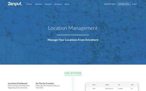 Screenshot of Locations Page zenput.com - Locations | Zenput - captured Dec. 4, 2015
