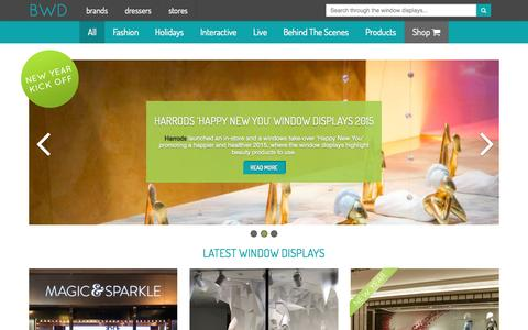 Screenshot of Home Page thebwd.com - Best Window Displays - Creative and Inspirational Window Displays - captured Sept. 11, 2015