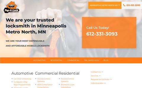 Screenshot of Services Page popalock.com - Minisite - Services - captured Nov. 1, 2019
