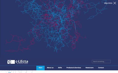 Screenshot of Home Page c-lecta.com - c-LEcta – Start - captured Nov. 1, 2017