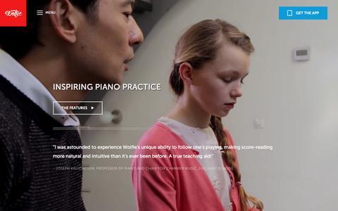 Screenshot of Maps & Directions Page tonara.com - Wolfie for piano app - Tonara and Wolfie for Piano - captured Jan. 20, 2016