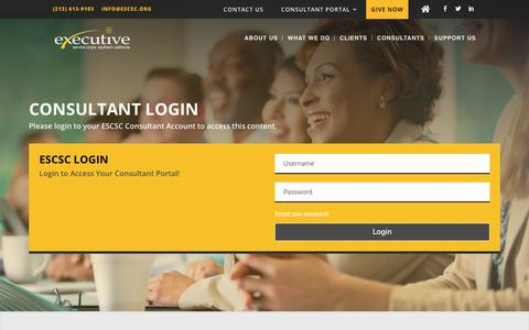 Screenshot of Login Page escsc.org - LOGIN | Executive Service Corps - captured Nov. 11, 2018