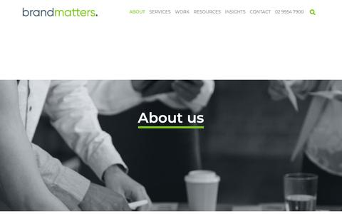 Screenshot of About Page brandmatters.com.au - About Us: Specialist Sydney branding consultancy   BrandMatters - captured March 21, 2019