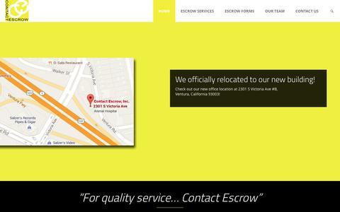 Screenshot of Home Page contactescrowinc.com - ContactEscrow – Contact Escrow for quality service! - captured May 21, 2017