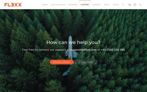 Screenshot of Support Page fl3xx.com - Support - FL3XX - captured Nov. 4, 2018