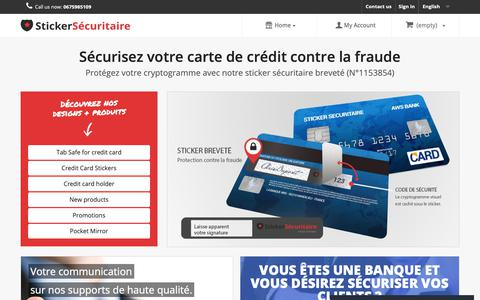 Screenshot of Home Page creative-card-design.com - Stickers universal design for credit cards and bank card  - Sticker-securitaire.com - captured Oct. 24, 2018