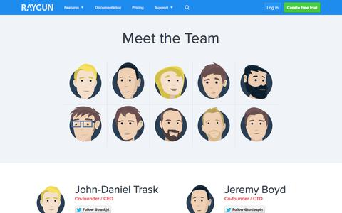 Screenshot of Team Page raygun.io - Meet the Team - raygun.io - captured Nov. 2, 2014