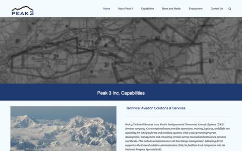 Screenshot of Home Page peak3inc.com - Peak 3 - captured Sept. 29, 2014