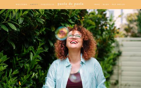 Screenshot of About Page paoladepaola.com - Alternative wedding photographer in London | About - captured Oct. 25, 2018