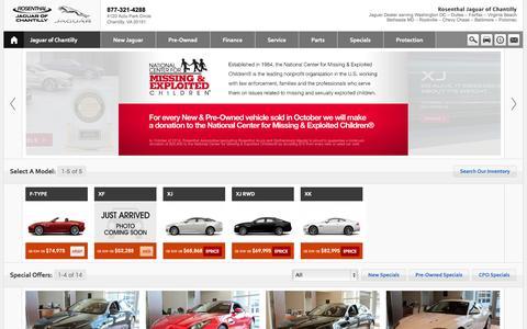 Screenshot of Home Page Contact Page Menu Page Hours Page jaguarchantilly.com - Jaguar of Chantilly- Sterling- Reston- Oakton- Centreville- Dulles-  Washington DC- Virginia - captured Oct. 6, 2014