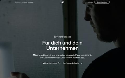 Screenshot of Home Page payever.de - Wir machen Verkaufen und Kaufen jeden Tag einfacher | payever - captured Sept. 30, 2018