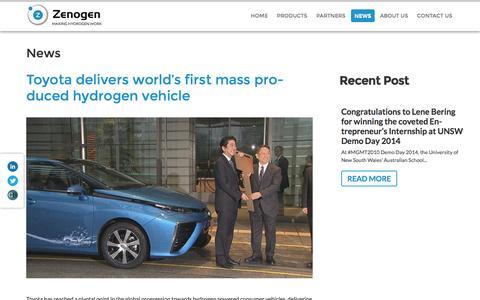Screenshot of Press Page zenogen.com.au - Zenogen   Making hydrogen work - captured Feb. 17, 2016