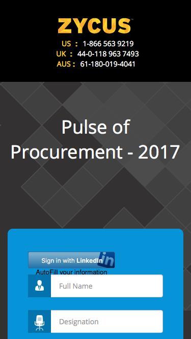 Pulse of Procurement - 2017