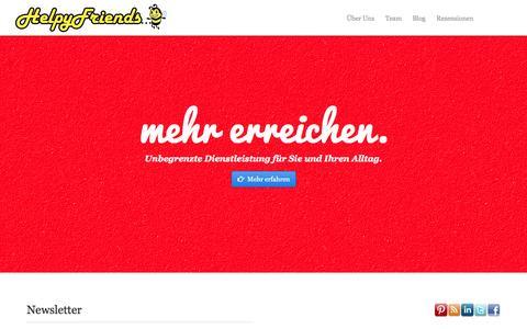 Screenshot of Home Page helpyfriends.de - Helpy Friends - Persönliche Assistenten - captured Sept. 29, 2014