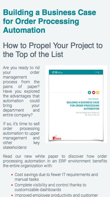 Building a Business Case for Order Processing Automation   Esker