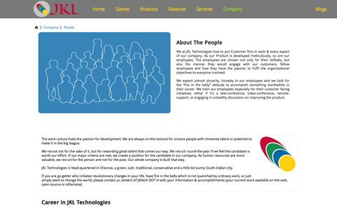 Screenshot of Team Page jkltech.in - JKL Technologies - People | Social Objective Marketing Campaigns | English Vocabulary Tool | Cloud Services Adoption & Deployment Consultation - captured Oct. 4, 2014