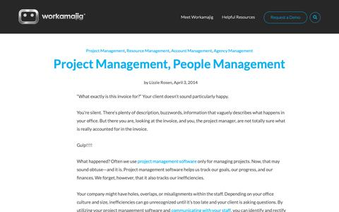 Screenshot of Team Page workamajig.com - Project Management, People Management - captured April 19, 2019