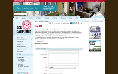 Screenshot of Signup Page agc-ca.org - AGC California - captured Oct. 4, 2014