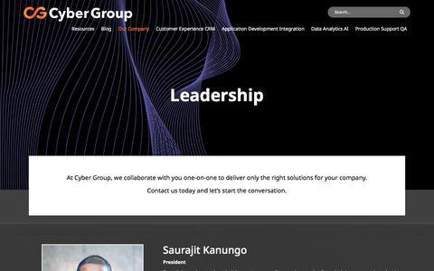 Screenshot of Team Page cygrp.com - Leadership - Cyber Group - captured Oct. 10, 2019