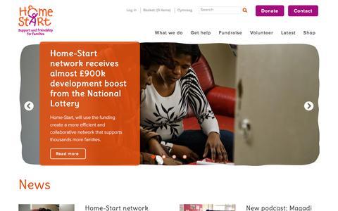 Screenshot of Press Page home-start.org.uk - Home Start | News - captured Aug. 29, 2017