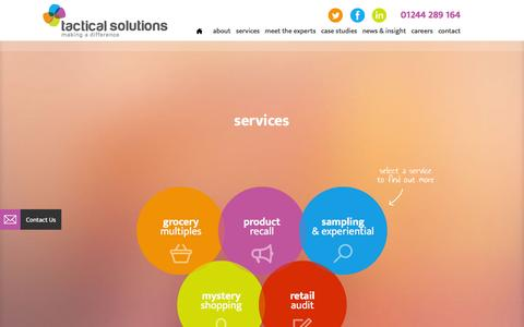 Screenshot of Services Page tactical-solutions.co.uk - Field Sales Services | Field Sales Agency | Tactical Solutions - captured Feb. 27, 2016