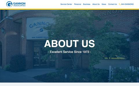 Screenshot of About Page gannonassociates.com - Gannon Associates – Personal & Business Insurance–NY PA - captured July 16, 2018