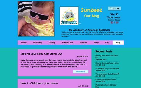 Screenshot of Blog sunzeez.com - Sunglasses | Baby Sunglasses - captured Dec. 11, 2016