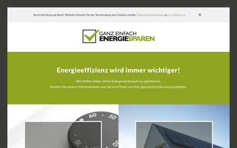 Screenshot of Home Page ganz-einfach-energiesparen.de - Ganz einfach Energiesparen - captured Oct. 23, 2018