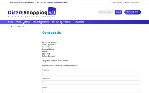 Screenshot of Contact Page directshopping4u.com - Contact Us - DS4U UK Limited - captured Oct. 7, 2018