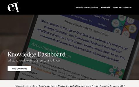 Screenshot of Home Page editorialintelligence.com - Editorial Intelligence - captured Dec. 7, 2018