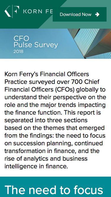 Korn Ferry 2018 CFO Pulse Survey
