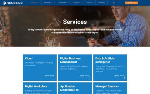 Screenshot of Services Page neudesic.com - Services - Neudesic - captured Aug. 17, 2019
