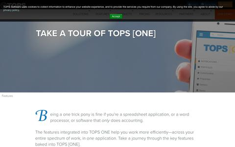 Screenshot of Team Page topssoft.com - TOPS ONE - Features - captured Jan. 28, 2019