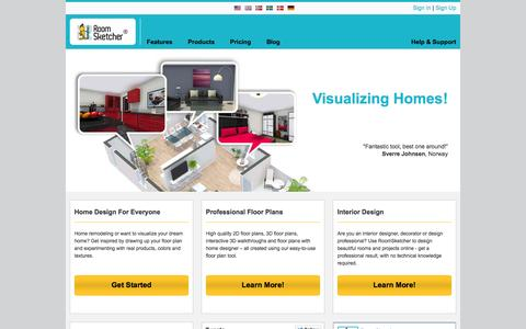 Screenshot of Home Page roomsketcher.com - RoomSketcher | Visualize Your Home - captured Oct. 10, 2014