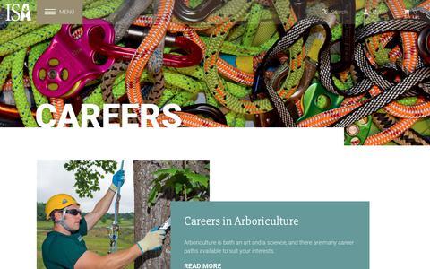 Screenshot of Jobs Page isa-arbor.com - Careers Overivew - captured Sept. 23, 2018