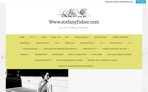 Screenshot of Contact Page wordpress.com - Contact – Www.stefanyfisher.com - captured Oct. 18, 2018