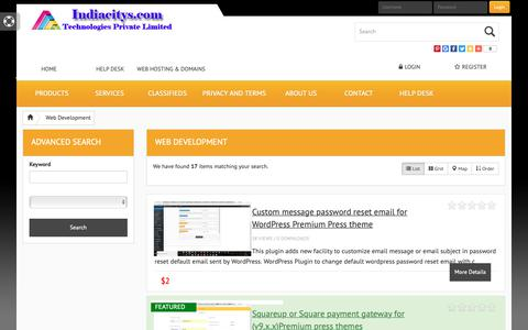 Screenshot of Products Page indiacitys.com - Web Development « Categories «  Products of Indiacitys.com technologies private limited, Coimbatore – India - captured Sept. 28, 2018
