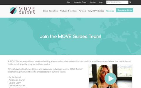 Screenshot of Jobs Page moveguides.com - Careers with MOVE Guides - captured Oct. 26, 2016