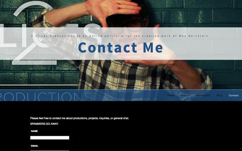 Screenshot of Contact Page 2slicesproductions.com - Contact 2 Slices Productions - captured Oct. 27, 2014