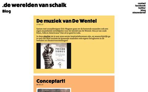 Screenshot of Blog dewereldenvanschalk.nl - De Werelden van Schalk - captured Nov. 6, 2018